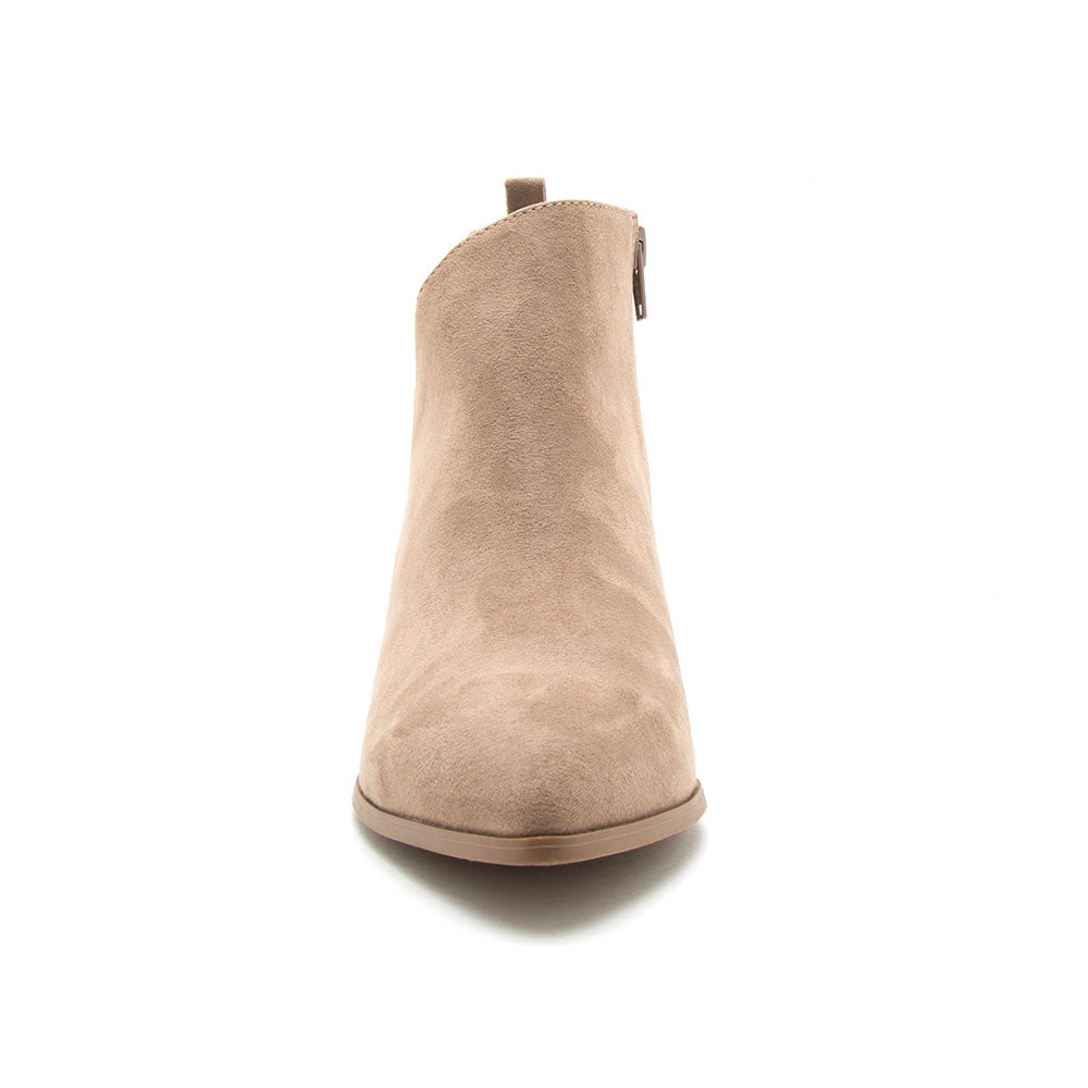 Nava-08 Taupe Side Panel Booties