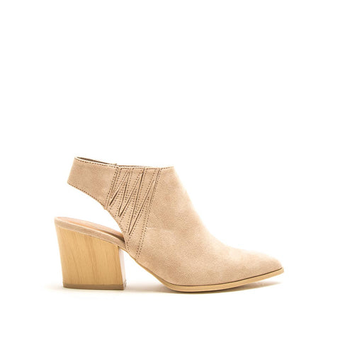 Nava-37A Taupe Mule Slingback Booties