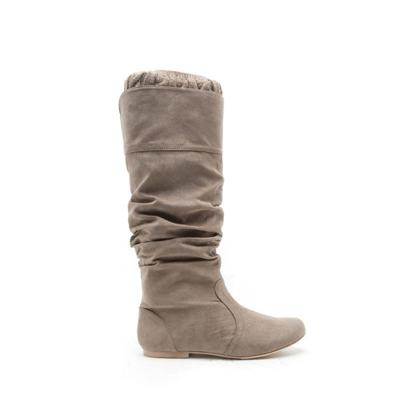 NEO-164 Taupe Sweater Cuff Boot