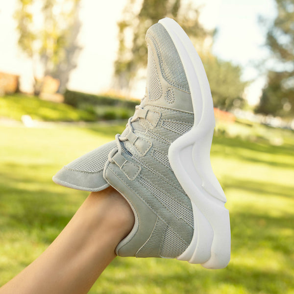 Nerf-02 Light Grey Lace Up Sneaker