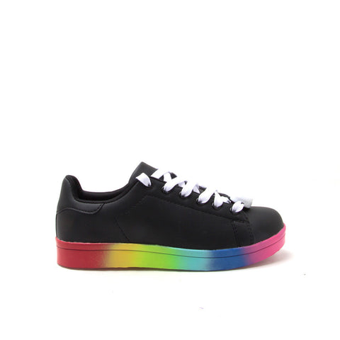 NOLAN-01 Black LED Lace Up Sneaker