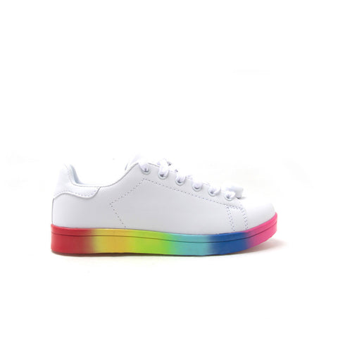 NOLAN-01 White LED Lace Up Sneaker