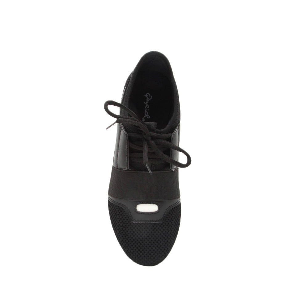 Oshton-01 Black Lace Up Sneakers