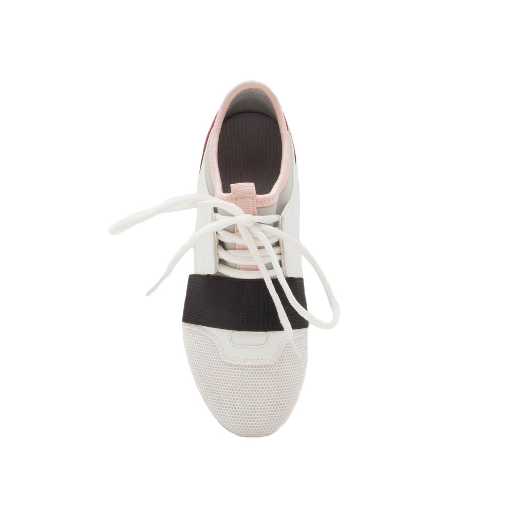 Oshton-01 White Lace Up Sneakers