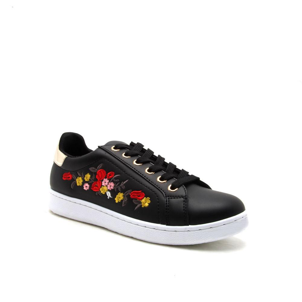 PANTERA-06 Black Embroidered Sneaker