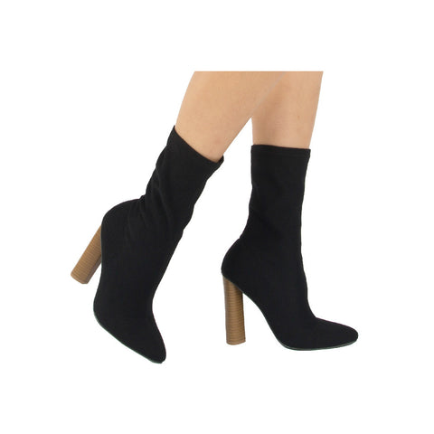 Parma-01 Black Sock Fit Stretch Boot