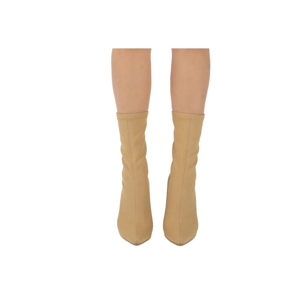 Parma-01 Tan Sock Fit Stretch Boot