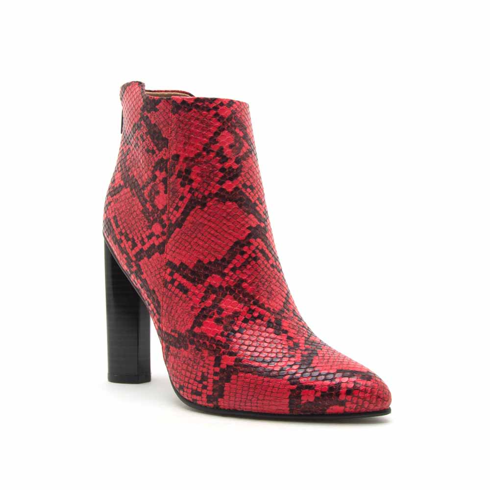 Parma-06 Red Black Snake Bootie