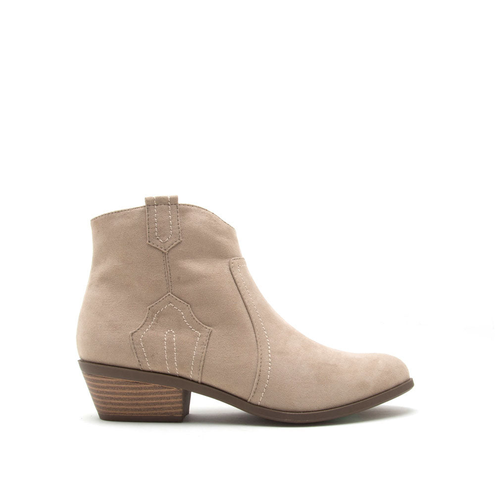 f79dd00c4388 Qupid Women Shoes Phedra-04 Light Taupe Western Bootie