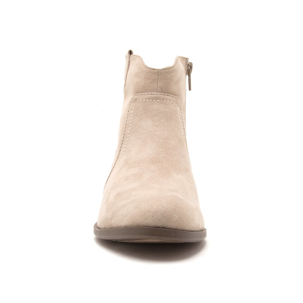 Phedra-04 Light Taupe Western Bootie