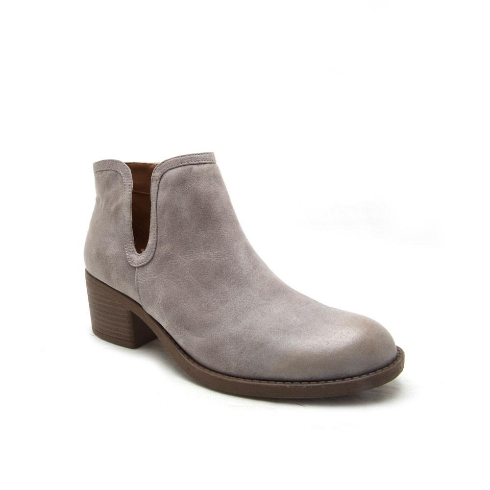 Philly-09 Light Grey Oil Distressed Bootie