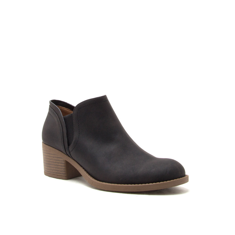 Philly-20 Black Distressed Bootie