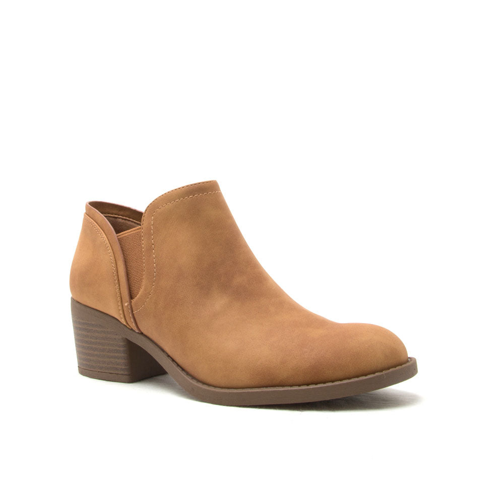 Philly-20 Tan Distressed Bootie