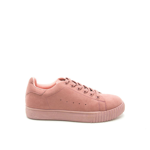 PICTON-01 Mauve Monochromatic Suede Sneakers
