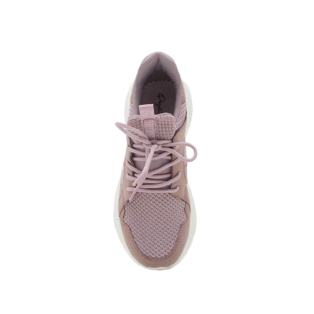 Piers-01 Dark Lilac Lace Up Sneakers