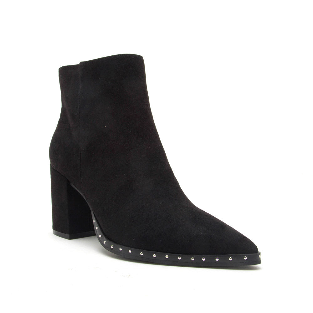 Planner-01X Black Suede Studded Bootie