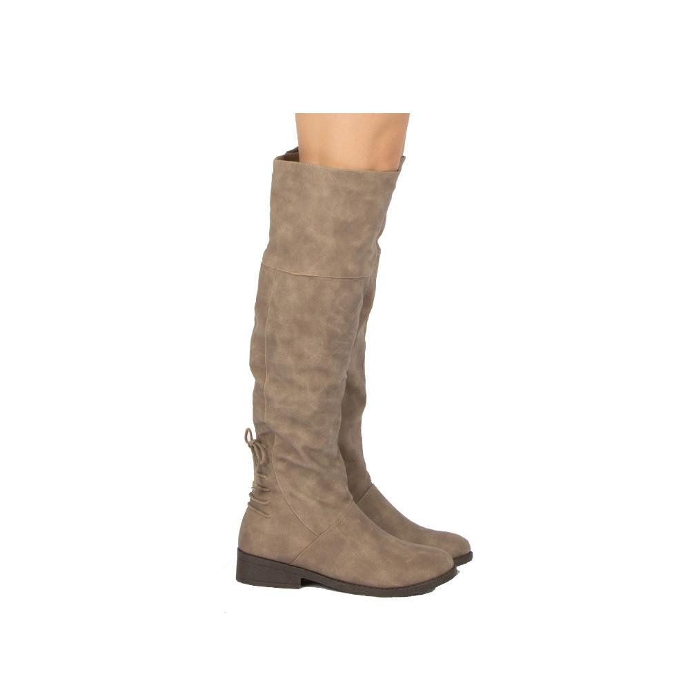 Plateau-167BX Taupe Knee High Boot