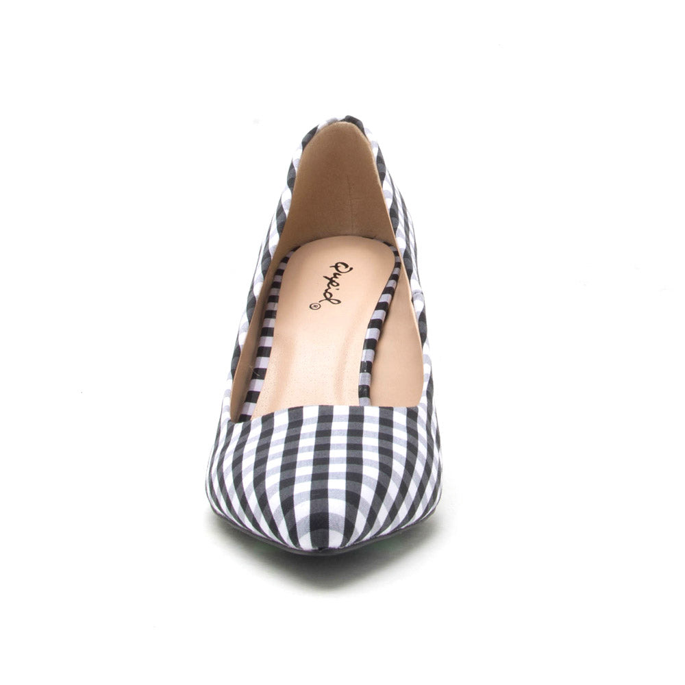 Portia-01 Black White Pump