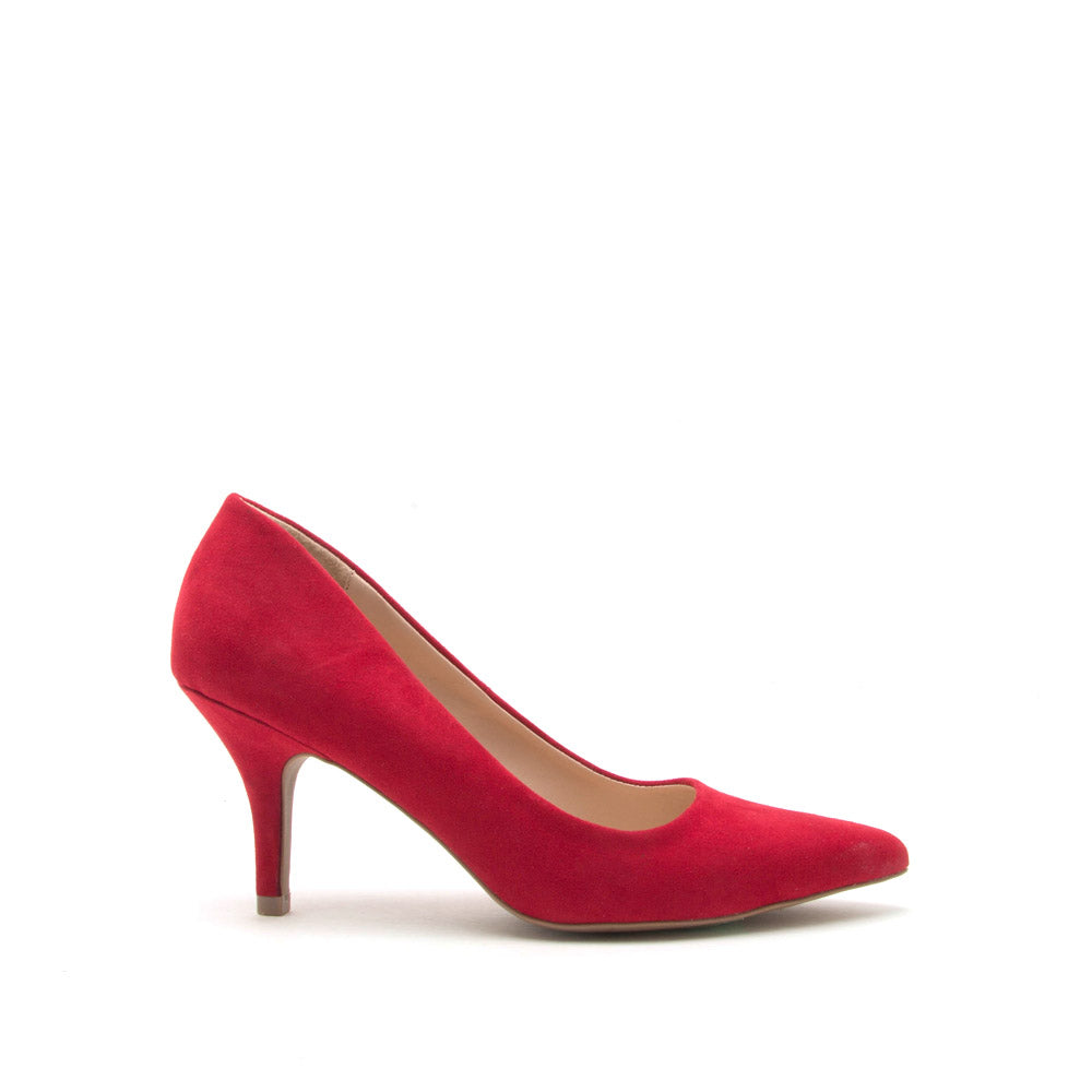 Portia-01 Red Suede Pump
