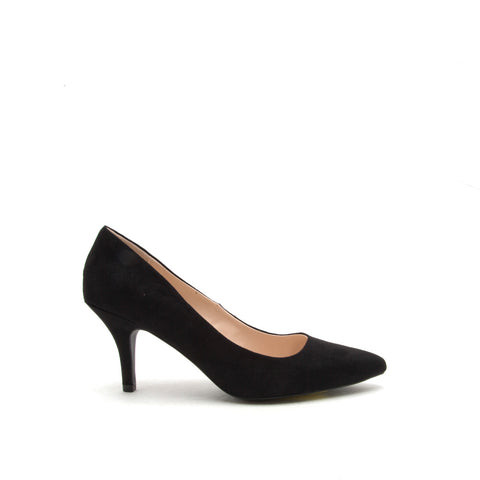 Portia-01 Black Suede Pump