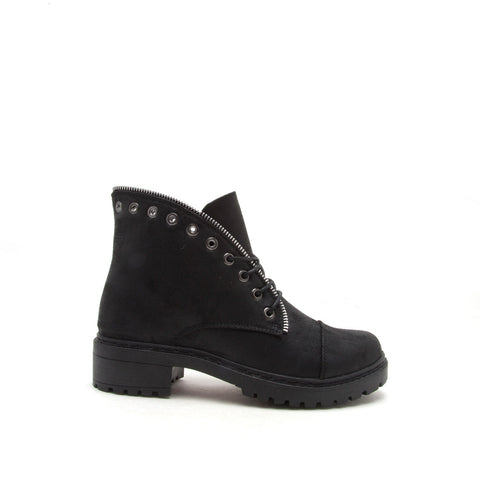 Postal-01A Black Lace Up Combat Boot