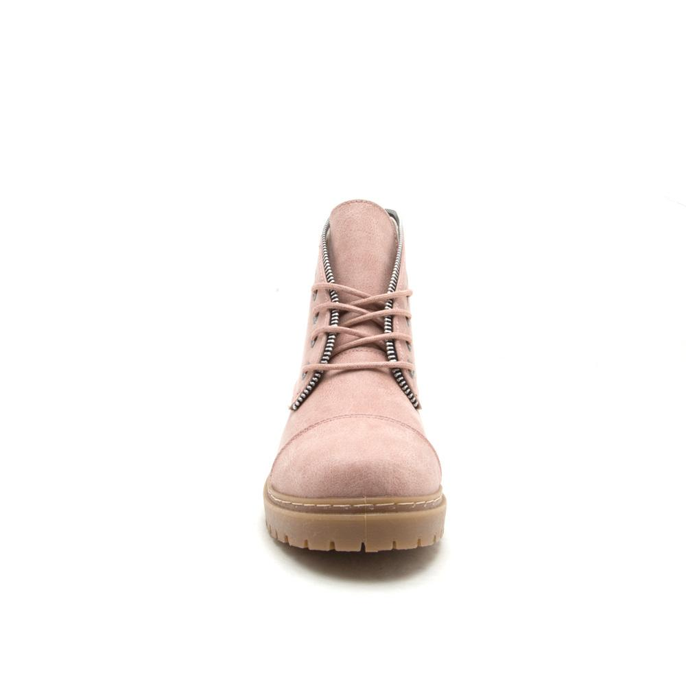 Postal-01A Blush Lace Up Combat Boot