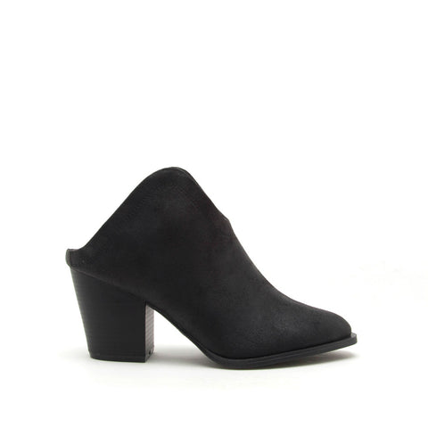 Prenton-01X Black Mule Booties