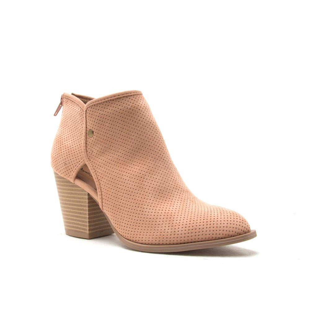 PRENTON-02 Blush Perforated Bootie