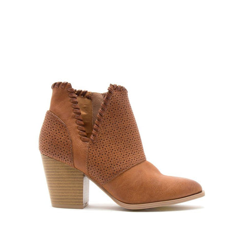 Prenton-26 Cognac Perforated Bootie