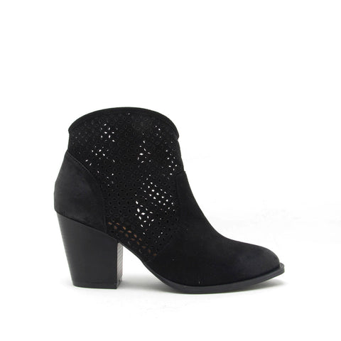 Prenton-37X Black Perforated Bootie