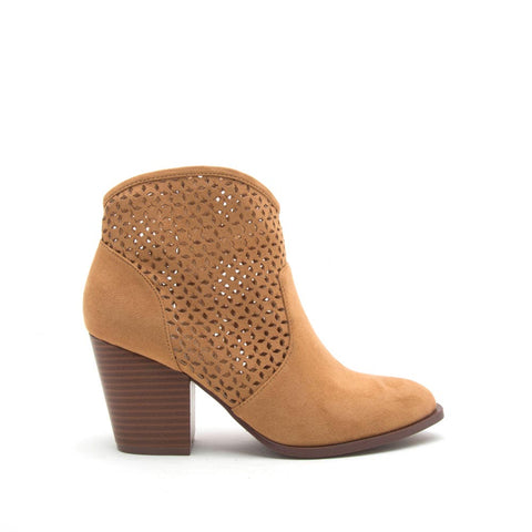 Prenton-37X Camel Perforated Bootie