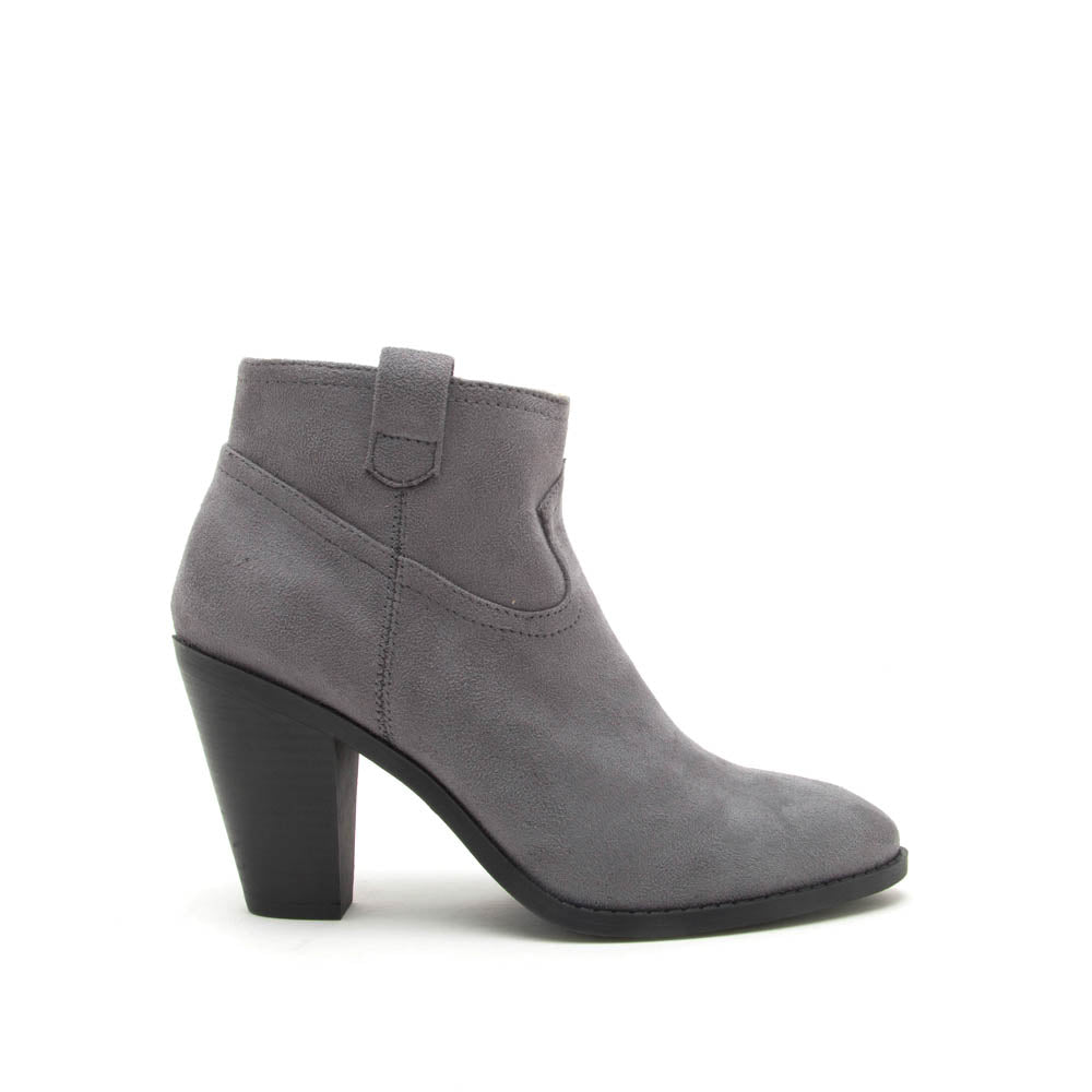 Prism-01 Steel Grey Stretched Suede Bootie