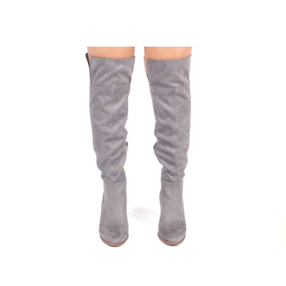 Prism-15 Steel Grey Tall Boots