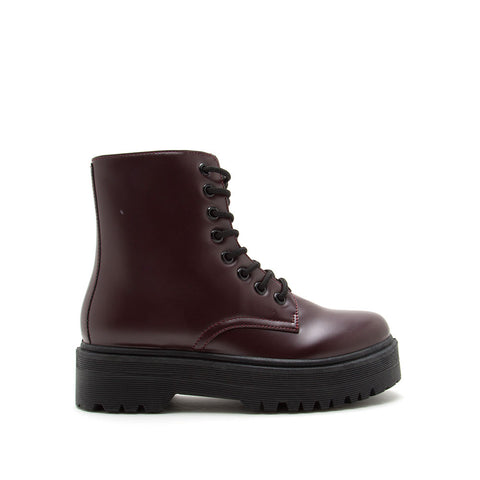 Raffi-01AX Burgundy Lace Up Boots