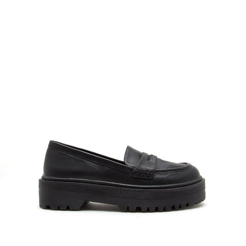 Raffi-07AX Black Loafers