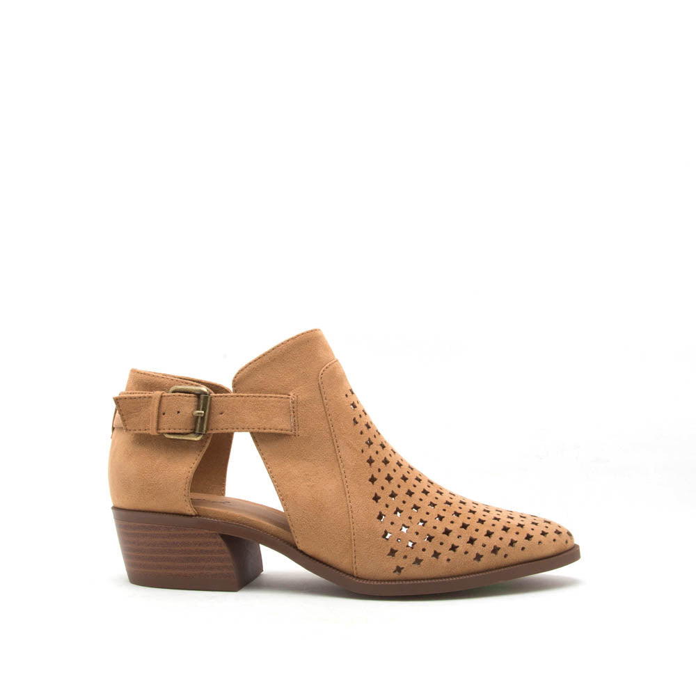 Rager-03 Camel Perforated Bootie