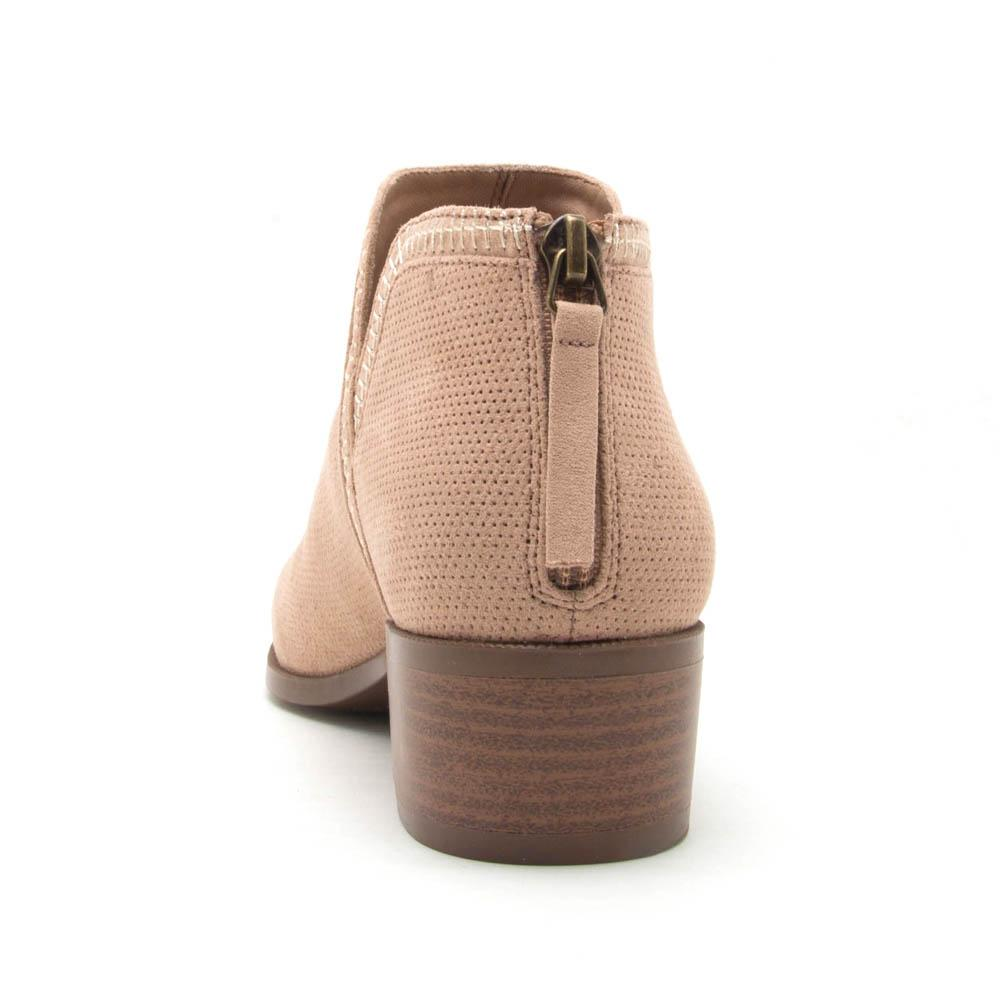 Rager-11 Warm Taupe Perforated Bootie