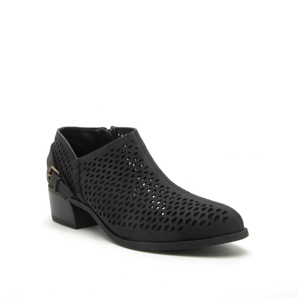 Rager-21 Black Perforated Bootie