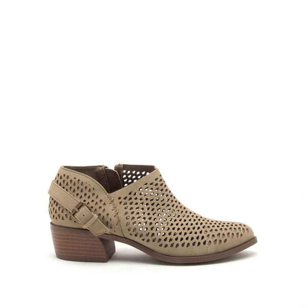 Rager-21 Taupe Perforated Bootie