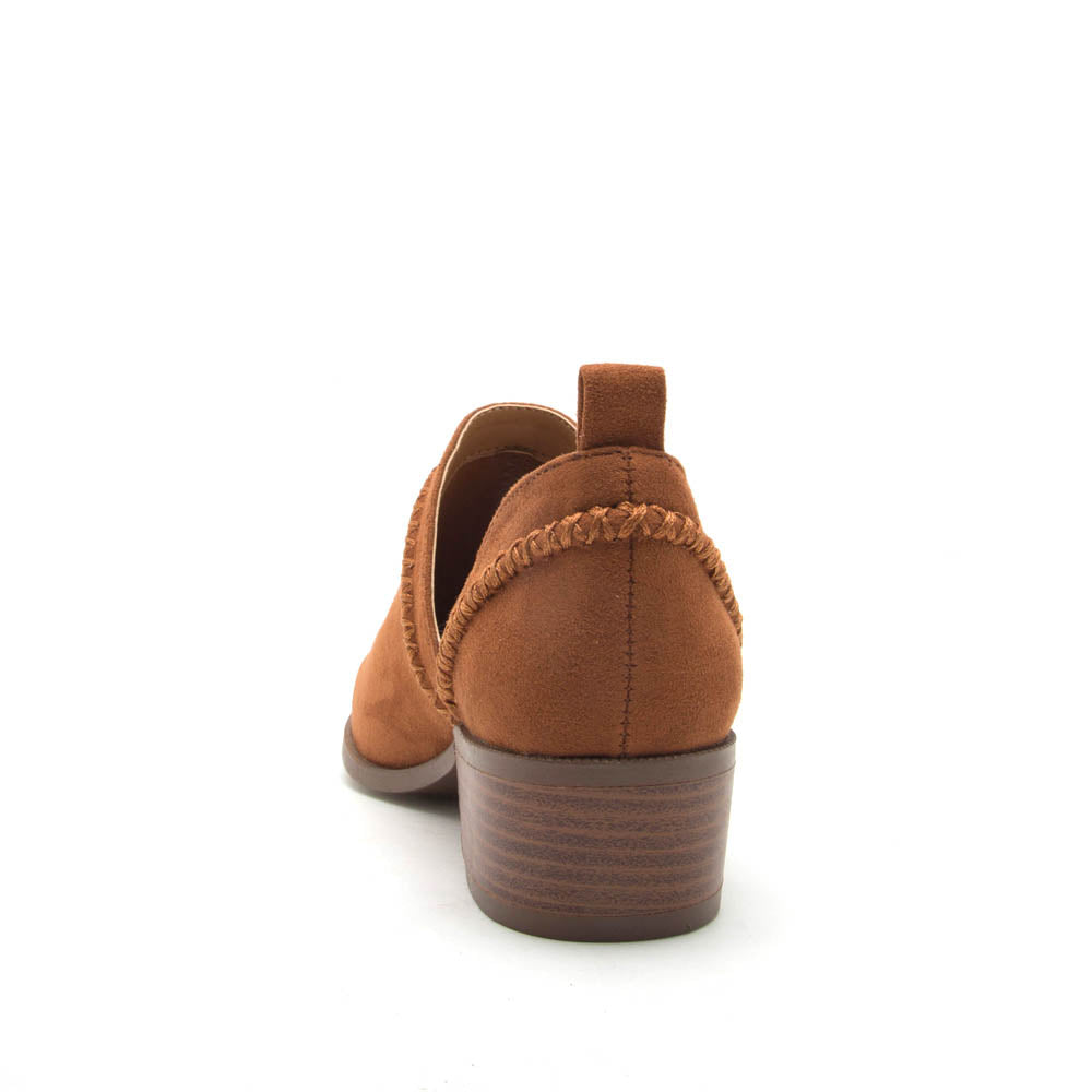 Rager-24 Chestnut Stretched Booties