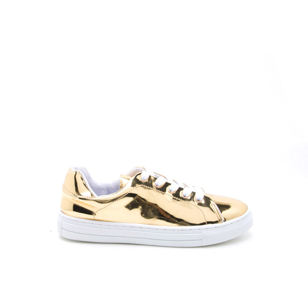 REBA-111C Gold Metallic Lace Up
