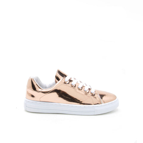 REBA-111C Rose Gold Metallic Lace Up