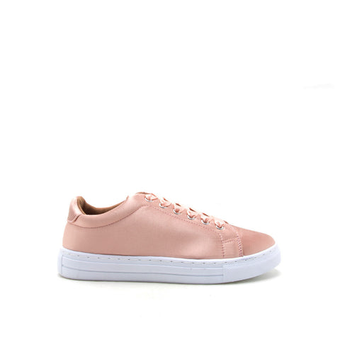 Reba-161C Blush Satin Lace Up Sneaker