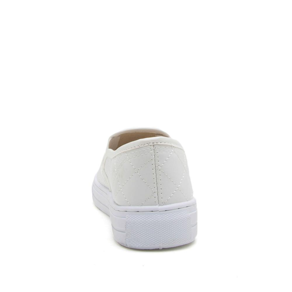 Reba-17C White Quilted Sneaker