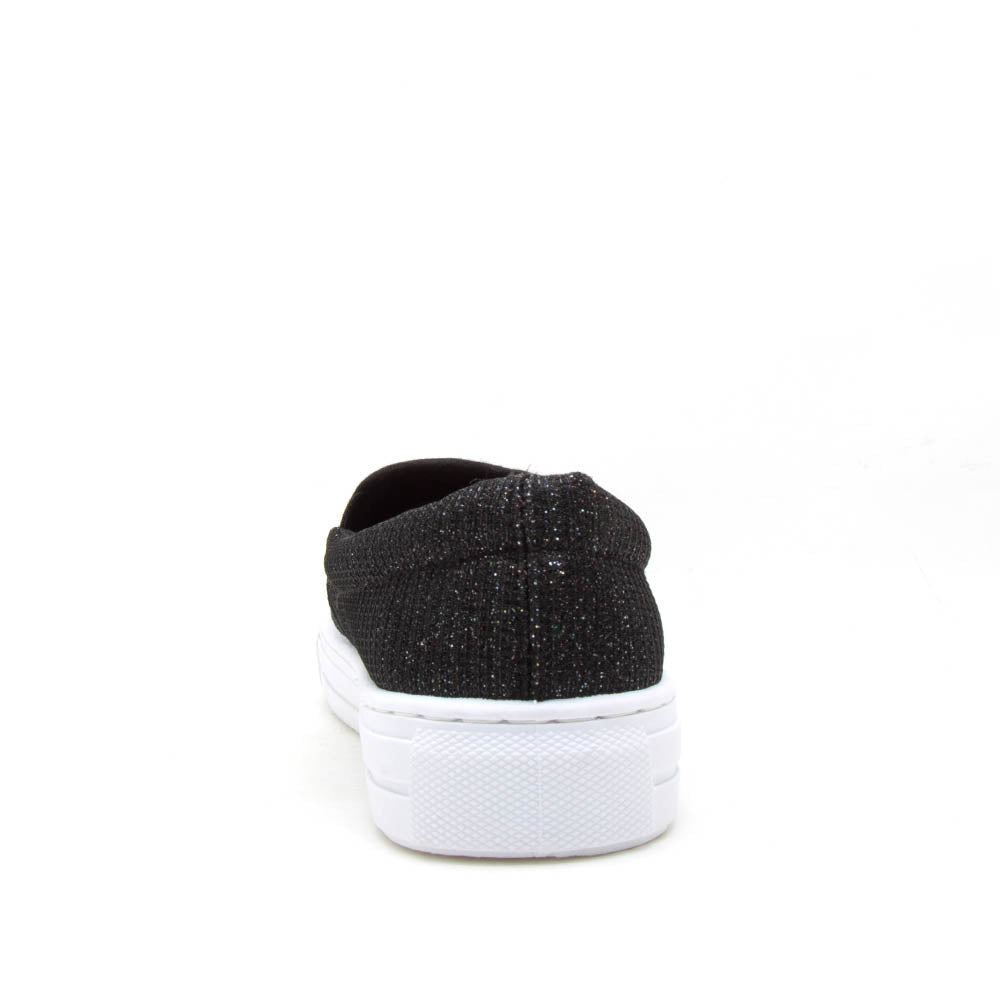 Reba-232BX Black Multi Glitter Step In Sneakers