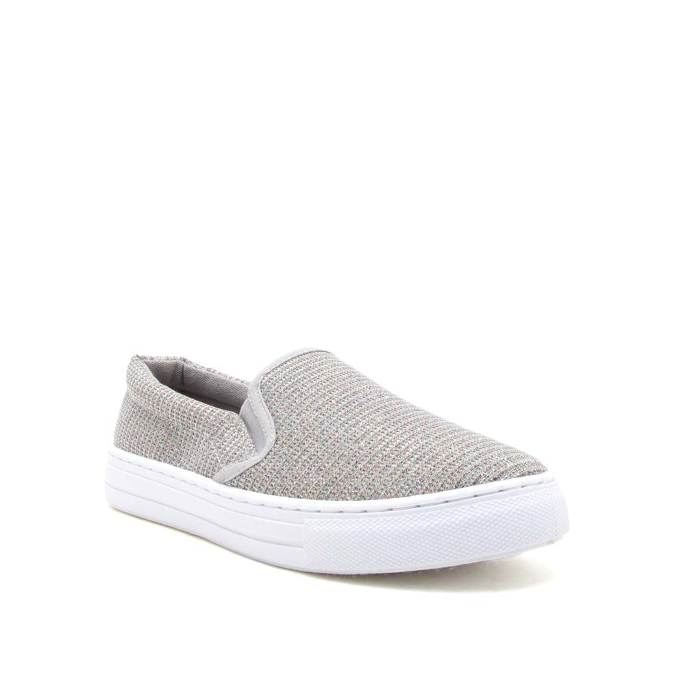 Reba-232BX Silver Multi Glitter Step In Sneakers