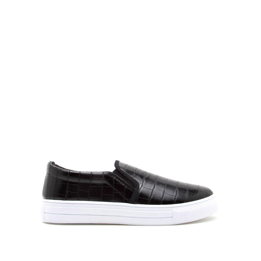 Reba-58B Black Crocodile Step In Sneaker