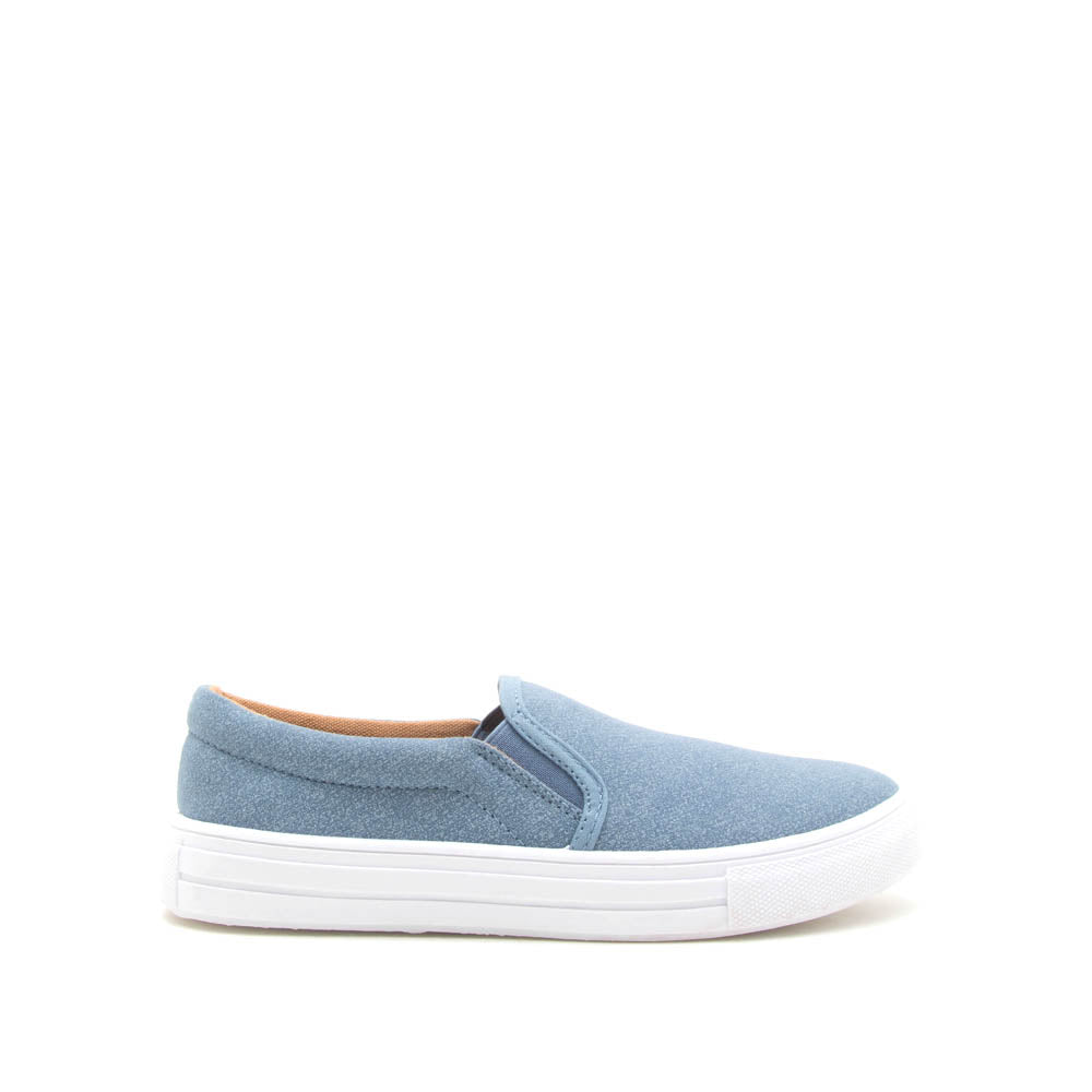 Reba-58B Light Blue Denim Step In Sneaker