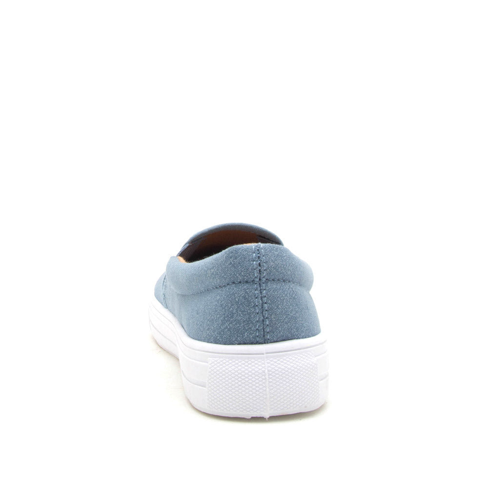 Reba-58B Light Blule Denim Step In Sneaker