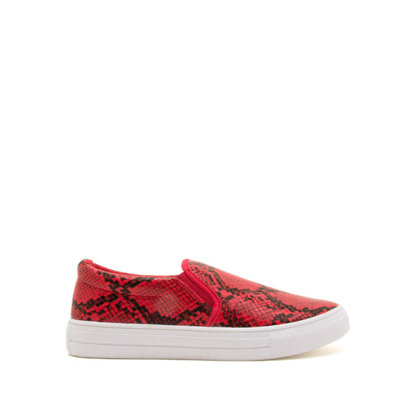 Reba-58B Red Black Snake Step In Sneaker